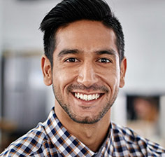 Man wiht healthy smile