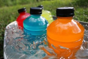 Sports beverages in ice